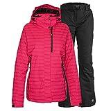 killtec Skianzug Damen Gr. 42 Funktionsjacke Malaya Pink + Skihose Liska Schwarz