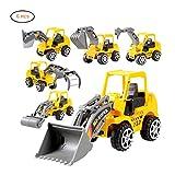 Surenhap Set di 6 Escavatore giocattolo Set di giocattoli per bambini Regalo di compleanno di Natale
