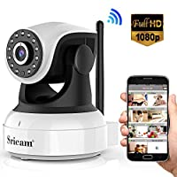 Sricam Cámara IP 1080P, Cámara Vigilancia WiFi Interior Inalámbrico, con Micr...