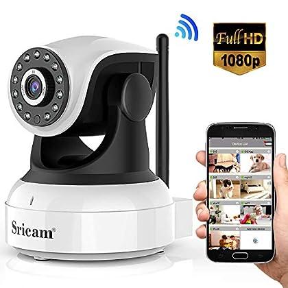 Sricam Cámara IP 1080P, Cámara Vigilancia WiFi ...