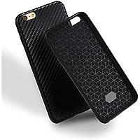 iPhone 6 Case TPU schwarze Carbon Optik Hülle –Silikon Schutzhülle Abstrakt Muster Design – MOVOJA – Carbon-Optik-schwarz