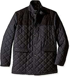 Hart Schaffner Marx Men's Big and Tall Stallworth Quilted Shooting Jacket, Charcoal, 5X Big