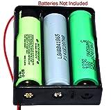 MA Battery Storage Case Plastic for 3 x 18650 Series Box Holder Black