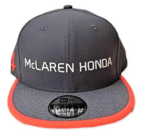 McLaren Honda F1 Team Alonso No. 14 - Gorra de Ajuste Plano, Color Gri