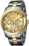JBW Delano Reloj DE Hombre Diamante Cuarzo 48MM Caja DE Acero JB-6218-C