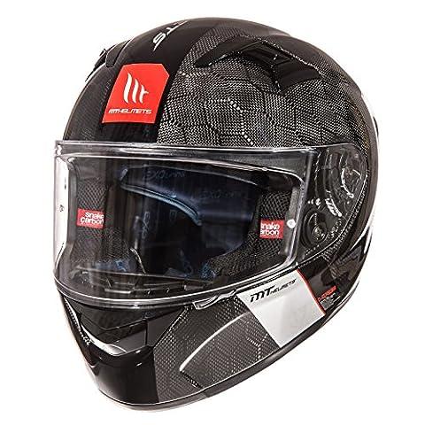 123039304 - MT KRE Snake Carbon Motorcycle Helmet S Black