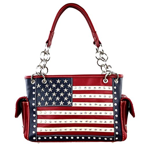 Montana West ,  Damen MW8085 , rot - Red American Flag Concealed Carry - Größe: One Size (West Handtasche American)