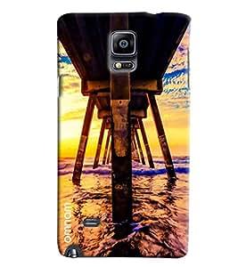 Omnam Downside Of Water Bridge Printed Designer Back Cover Case For Samsung Galaxy Note 4 N9100