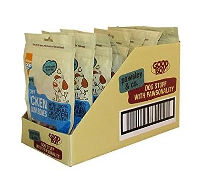 Good Boy Dog Treats Crunchy Chicken & Calcium Bones, case of 8 x 100g packs