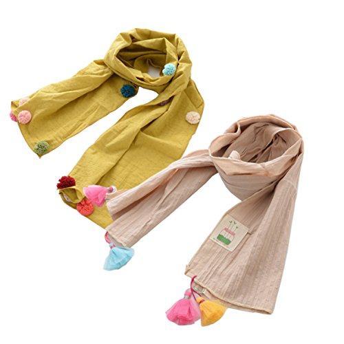 Tokkids - Sciarpe Foulard alta qualità per bambini e bambine - Confezione da 2