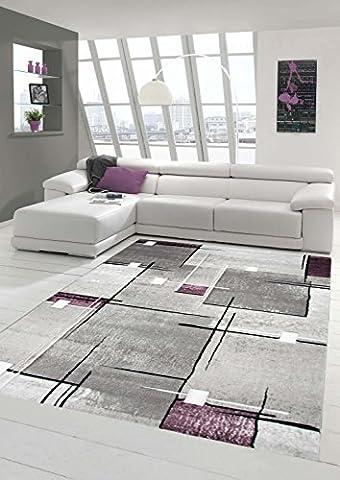 Tapis 160 X 160 Blanc - Salon Designer Tapis contemporain Tapis, poil ras
