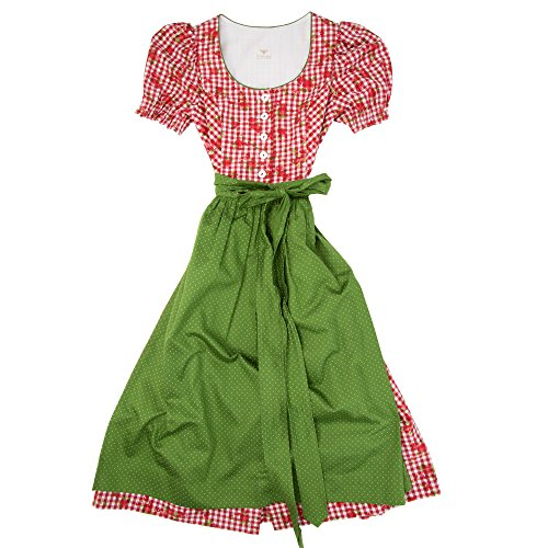 H.Moser ® Mädchen Kinderdirndl 3tlg. Trachtenkleid Dirndl, Bluse Schürze - Marken - Dirndl Set- ArtNr.: 4384961 (Kittel Kleid Taufe Baumwolle)