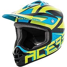 Acerbis - Casco para moto de Cross / Enduro, Impact Junior 3.0para niño M Amarillo - Azul