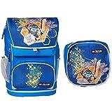 Lego Nexo Knights Maxi mit Sporttasche Kinder-Rucksack, Blue