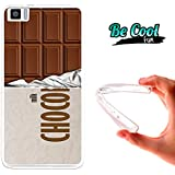 Becool® Fun - Funda Gel Flexible para bq Aquaris M5.5 .Carcasa TPU fabricada con la mejor Silicona, protege y se adapta a la perfección a tu Smartphone y con nuestro diseño exclusivo Tableta de chocolate