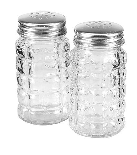 """Anchor Hocking 35248 Tabletop Salt and Pepper Shakers, 3.5"""", Clear by Anchor Hocking"""