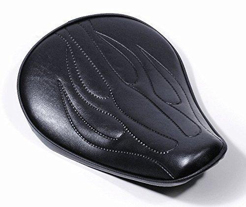 Custom Solo Sitz Big Flammen Extrem flach für Harley Chopper Bobber Universal HD (Chopper Sitz)