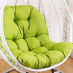 ZHAS Swing Hanging Basket Seat Cushion, Thicken Hanging Egg Hamac Chair Pads Waterproof Chair Seat Cushioning for Patio Garden (Color: Green, Size: 95x125cm) (Color: Green)
