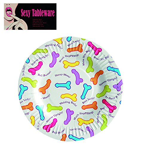Cheeky-Tableware-NoveltyNaughty-PenisWilly-design-Paper-Plates-Perfect-to-your-HenAnne-Summers-Party