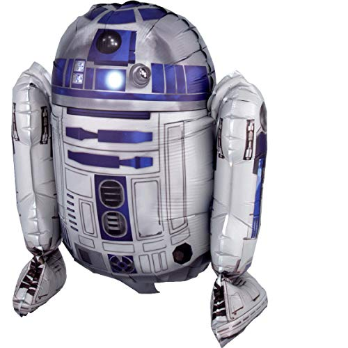 amscan 3819101 Folienballon Sitter Star Wars R2-D2, Mehrfarbig