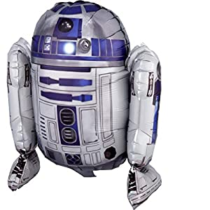 amscan 3819101 - Globo de plástico con diseño de Star Wars R2-D2, Multicolor