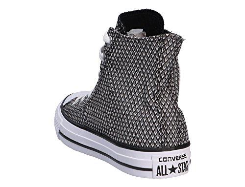 Converse All Star Hi Femme Baskets Mode Blanc Blanc/noir