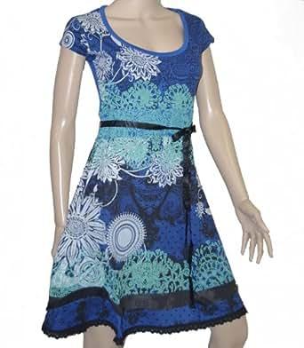 desigual damen kleid myrcella blau xl 42. Black Bedroom Furniture Sets. Home Design Ideas