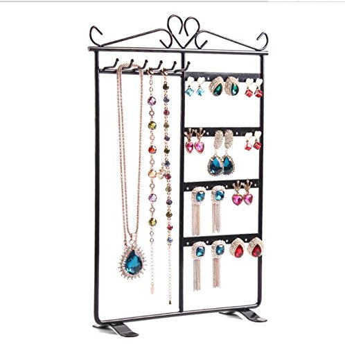 Chytaii Jewellery Display Stand Holder Jewellery Organiser for Necklaces Earrings Bracelet Chains Jewery Hanging Organiser Rack 21*31cm/8.2*12.2inch