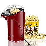 PREUP Popcornmaschine| Heißluft Popcorn Maker Ohne Öl | 1,76L Kapazität BPA-freie Popcorn Maschine mit abnehmbarem Deckel für Heimkino