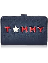 Tommy Hilfiger Honey Med Flap Star, Portefeuilles femme, Blau (Tommy Star), 3x8.5x14 cm (B x H T)