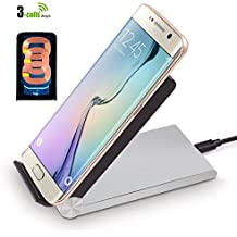 DLAND (Silver/Black) T-310 Foldable Stand 3-Coils Qi Wireless Charger for