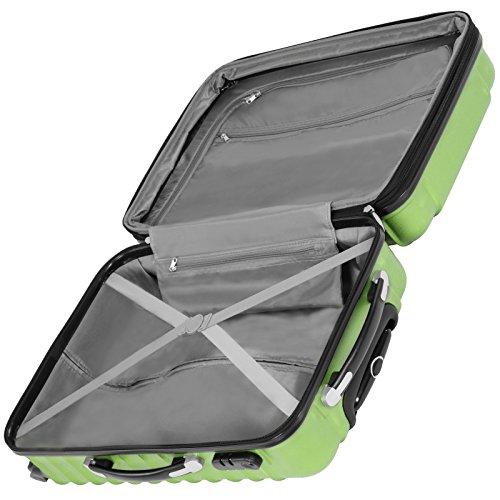 Vojagor 4 tlg. Trolley Koffer Hartschalen Set - Reisekoffer mit 4 Rollen 360°, S,M,L,XL (ineinander stapelbar) Farbwahl - 5