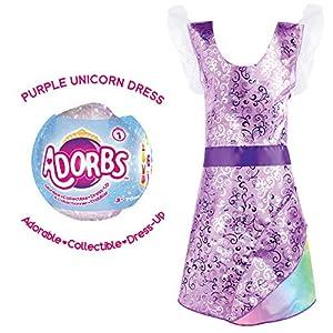 TOMY L85017 - Vestido de Princesa, Color Violeta y arcoíris, diseño de Adorbs, Color Morado