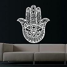Etiquetas de la pared de la India de Buda mano de Fátima Hamsa rwyp uglymug TecGadgets Lotus adhesivo de vinilo decoración del dormitorio casa Interior Design Art Mural MN709