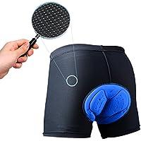 dexnor Vélo Sous-vêtements Pantalon Short sous-vêtement 3D gel Vélo Caleçon rembourré avec coussinets confortable Pantalon de Cyclistes Bike Underwear pour cyclisme équitation vélo–bleu Red