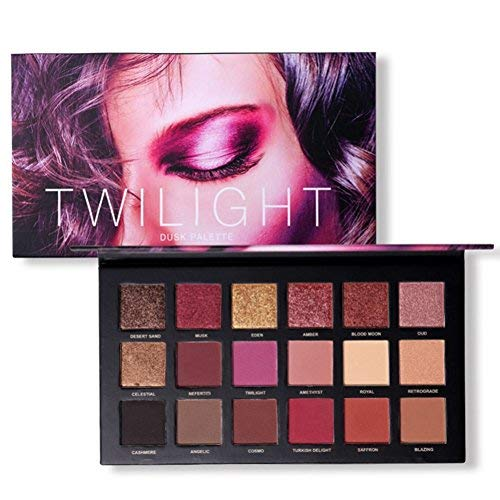 18 couleurs Palette de fard à paupières Beauty TY Mat Shimmer Pigmented Twilight et Poudre Ombre à paupières Dusk (A1)