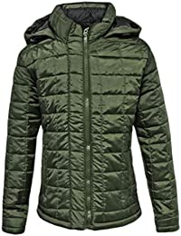 CANDY FLOSSNEW KIDS PUFFER QUILTED GIRLS PADDED BOYS CHILDRENS PUFFA BUBBLE HOODED ZIP JACKET COAT