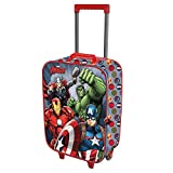 Karactermania The Avengers Force-Soft 3D Trolley Suitcase Valigia per bambini, 52 cm, 23 liters, Multicolore (Multicolour)