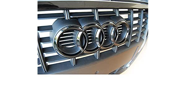 Carbon Fibre Front Grill /& Rear Rings Badge Emblem Glossy Das Automotive