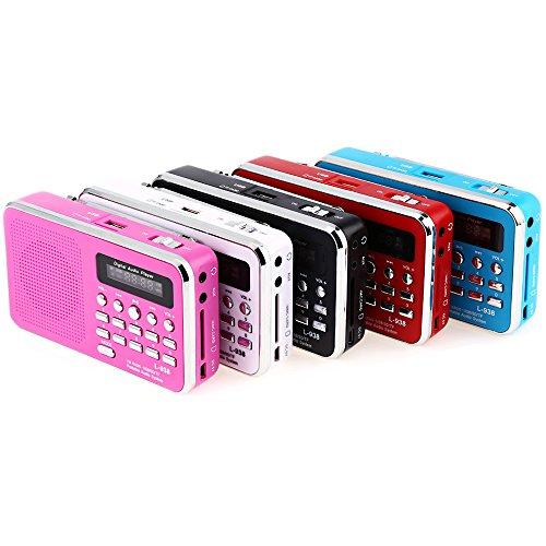 iMinker Mini-Digital-beweglicher FM Radio-Mittel-Lautsprecher MP3-Musik-Spieler TF / SD Karte Usb-Scheiben-Hafen für PC iPod-Telefon mit LED-Anzeige und Akku (Blau) - 8