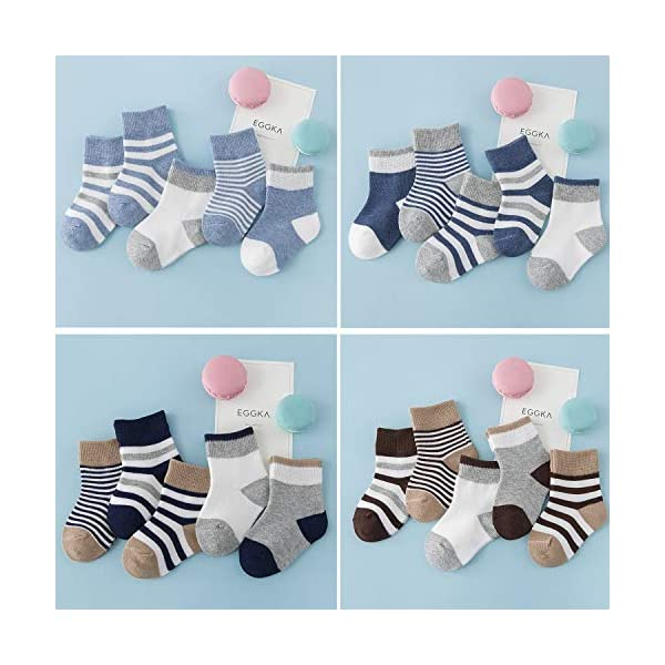 DEBAIJIA Niños Niñas Calcetines De Algodón Cómodo Suave Jogging Absorben el Sudor Antibacteriano primavera verano otoño… 4