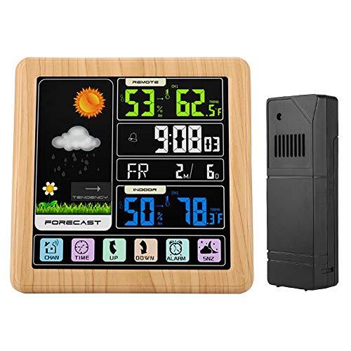 MWW Wetterstation Funk mit Außensensor Funkwetterstation mit Farbdisplay und Außensensor Innen- und Außentemperaturanzeige