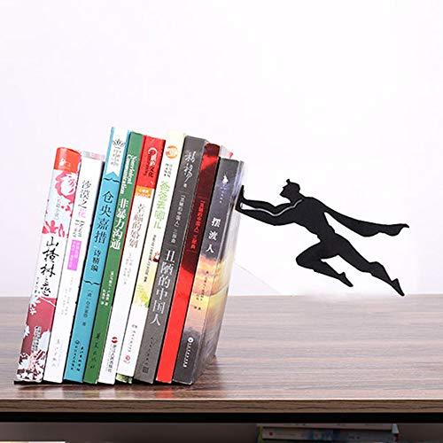 Bookends Buchstützen Superman Iron Man Heavy Metal Durable Robust Starke Bücher Stand Bücherregal Dekor Schlafzimmer Bibliothek Büro Schulbedarf Schreibwaren Geschenk A-17.5 * 12 * 20cm -