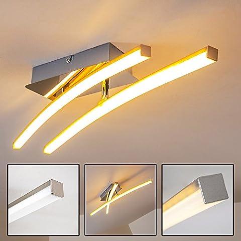 Deckenleuchte minimalistisches Design - Zwei drehbare Leuchtstäbe mit LED-Lampen und warmweißem Licht – Designer-Leuchte für das Wohnzimmer – Deckenlampe für gemütliche