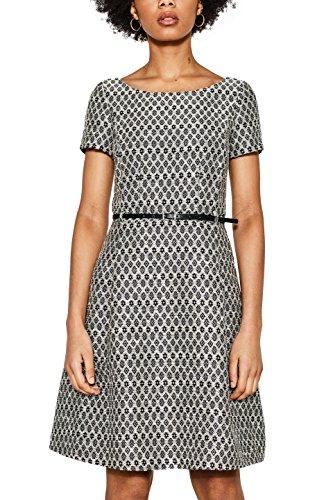 ESPRIT Collection Damen 018EO1E015 Kleid, Schwarz (Black 2 002), 42