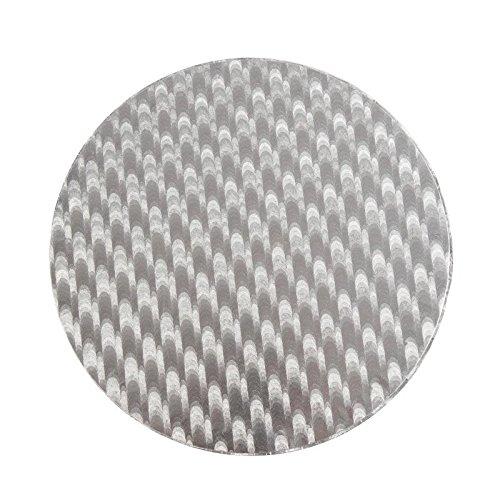 PME CCR819 Fond Rond à Gâteau, Plastique, Argent, 25 x 0.4 x 25 cm