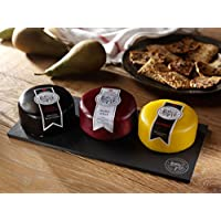 Snowdonia Cheese Company Slate Cheese Board Including Black Bomber, Beechwood & Ruby Mist 200g Truckles
