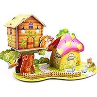 3D gruesa espuma Cartón Puzzle bricolaje Kit de artesanía/Modelo de edificio/Regalo/Kit de modelo Para niños # 35 - Peluches y Puzzles precios baratos