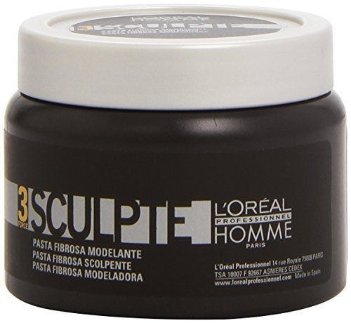 L'Oreal Professionnel Homme Force 3 Sculpte Sculpting Fibre Paste Unisex, 5 Ounce by L'Oreal Paris