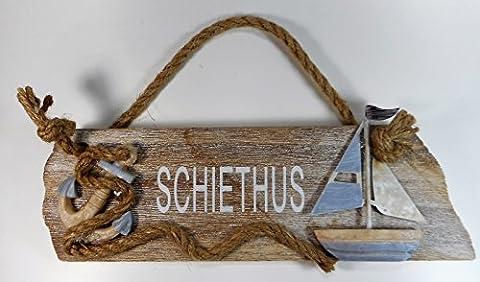 Schiethus Schild Boot Schiff 25 cm Anker Beach Maritim Wohnen